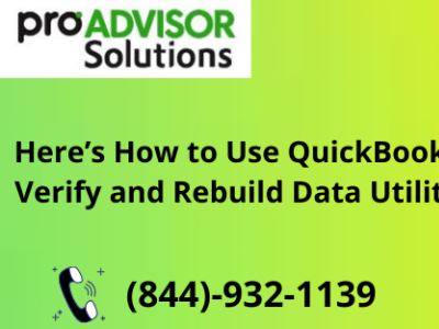 Ways that help to Use QuickBooks Verify and Rebuild Data Utility