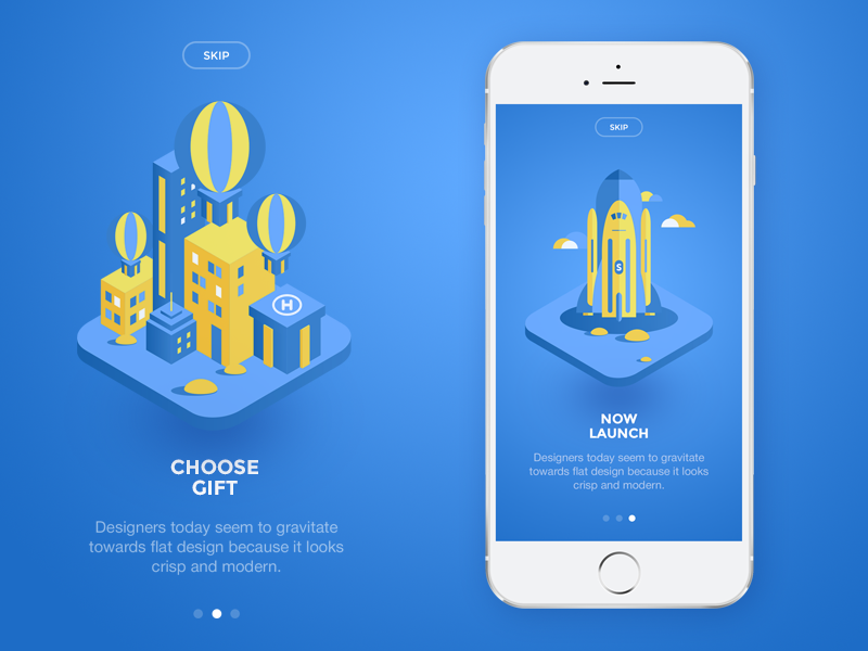 Tutorial tutorial gift app illustration material flat ui iphone ios