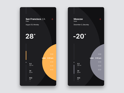 WTHR minimal weather ux ui mobile iphone app ios material flat