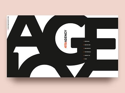 415Agency Website menu main menu branding digital letter typeface typography typo design web grotesque bold font portfolio agency studio page main letters site