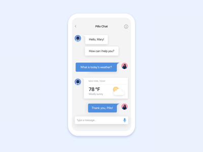 Pillo health app redesign chat