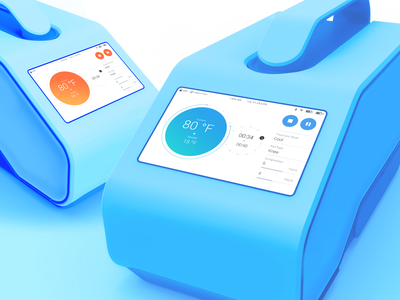Cooling & Heating Device Interface healthcare circle cool temperature recovery cold hot heat thermotherapy medicare medical med therapist doctor therapy health design digital ux ui
