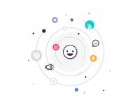 Social Network Profile Illustration