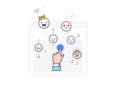 Social Network Emotions Illustration