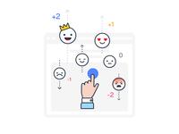 Social Network Emotions Illustration