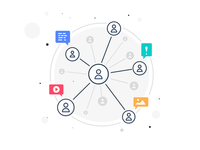 Social Network Community Illustration