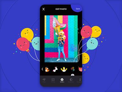 Polaroid App Photo Edit vsco instagram color emotion baloon android ios icon camera photography printing print sticker editing bright illustration branding ux ui digital