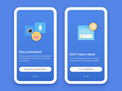 Pillo App Permissions Animations