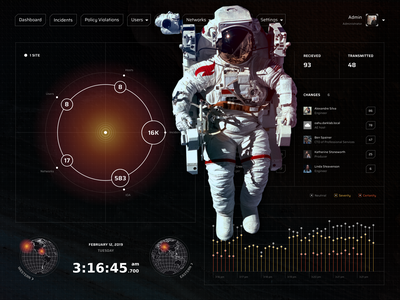 Security System UI Patterns data statistics attack scan planet star stellar space austronaut user chart graph kit uikit interaction illustration icon ux digital ui