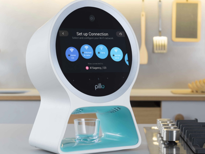 Pillo Home Healthcare Robot — Wi-Fi Connection medicare health med digital animation gif interaction setup signal wifi status loading loader networks connection robot device customer ux ui