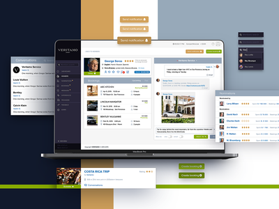Luxury Service Administrator Dashboard mood history profile member request customer payment booking chat admin admin panel kit states uikit design digital branding cx ux ui