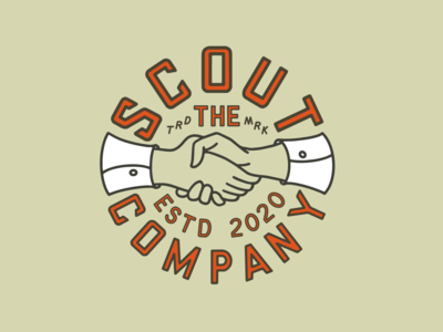 Scout Badge badge illustrator icon vector type logo illustration font design branding