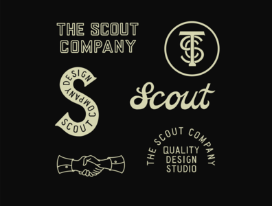 The Scout Company badge illustrator icon vector type logo illustration font design branding
