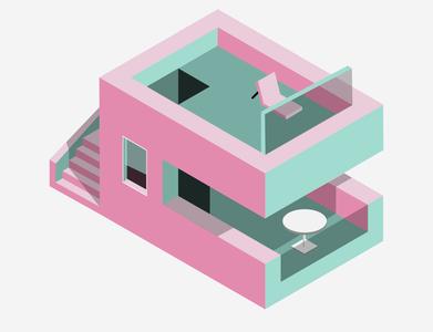 Isometric House isometric illustration isometric design isometric art minimalist graphic design adobe illustrator