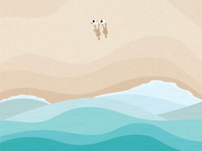 We see the sea blue ground sea creatures sea creature seeing icon illust water beach sand vector design graphic illustation wave sea see