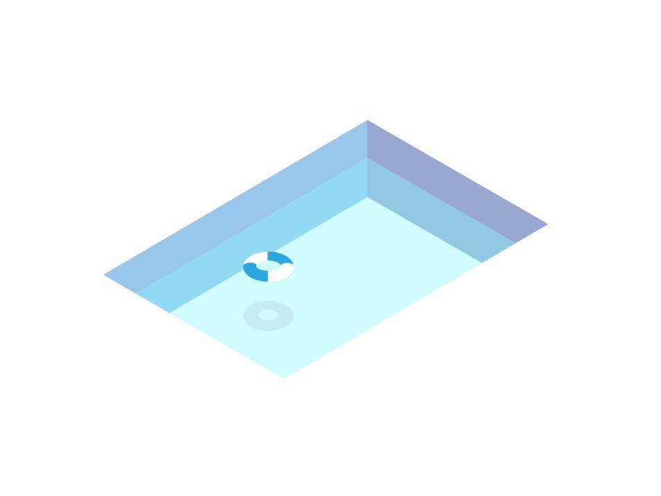 Pool swimmingpool swimming swim pool blue vector graphic design illustration