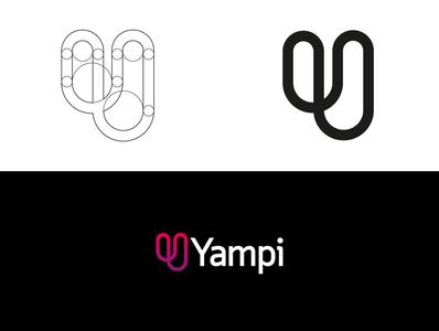 Yampi branding concept concept minimal web icon vector logo design