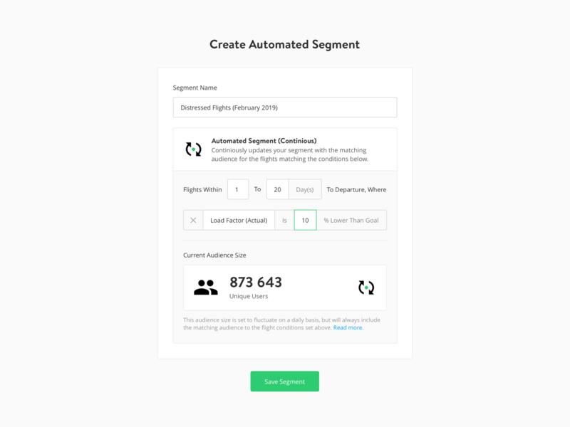 Automated Segments audience flights data input segment automation yieldr