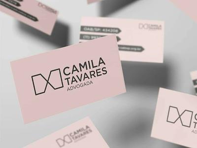 Camila Tavares - Identidade Visual marca logotipo logo graphic design design gráfico design brand
