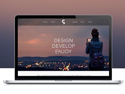 Glucode website web design website responsive ux ui photography