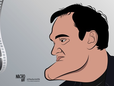 Quentin Tarantino filmmaker quentin tarantino illustration illustration digital digital illustration adobeillustrator artwork