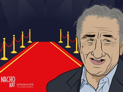 Robert De Niro filmmaker illustration illustration digital digital illustration adobeillustrator artwork
