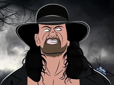The Undertaker illustration illustration digital digital illustration adobeillustrator artwork theundertaker