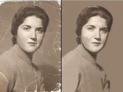 Digital retouching - Adobe Photoshop restoration oldpic adobe photoshop digital retouching artwork