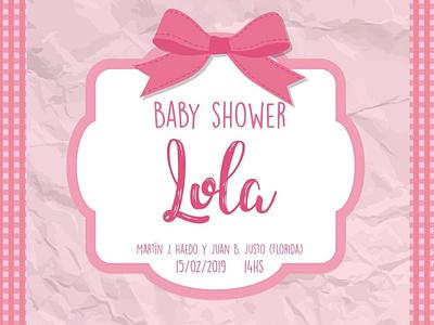 Baby shower invitation card design graphicdesign design adobeillustrator artwork