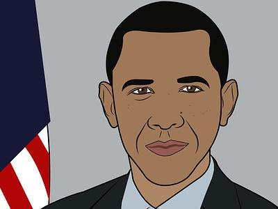 Barack Obama barack obama graphicdesign design illustration illustration digital digital illustration adobeillustrator artwork
