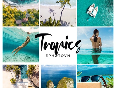 Tropics - 11 FREE Adobe Lightroom Presets lightroom photo retouching photo editing beach presets beach photos tropical feel tropics teal blue beach tropical presets tropical tone freebies free to use preset bundle commercially free free presets preset pack free lightroom presets