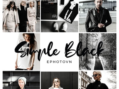 Simple Black - 6 FREE Adobe Lightroom Presets blackandwhite black lightroom presets black presets sharp black tones black theme free to use preset bundle preset pack photo editing photo retouching lightroom free presets freebies free lightroom presets commercially free