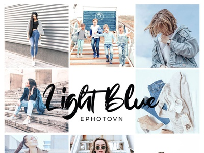 LIGHT BLUE – 6 FREE Adobe Lightroom Presets free to use lightroom preset bundle preset pack photo editing freebies free lightroom presets clothing denim blue tones blue preset blue lightroom preset commercially free