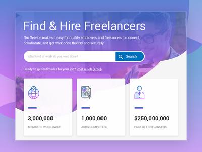 #01 Conceptual Freelancer website header