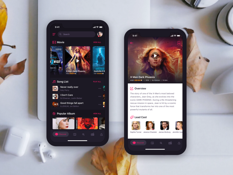 Music App Concept music dark app concept dark ui video detail app album song app video app ux design uidesign music app