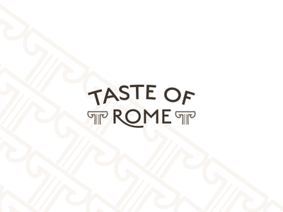 TASTE OF ROME brand identity branding food restaurant logo