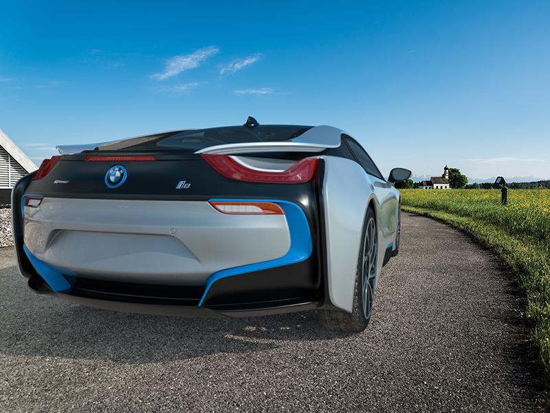 BMW i8 - Outdoor shots sports car 3ds max hybrid render bmw automotive i8 cgi 3d rendering car photoreal