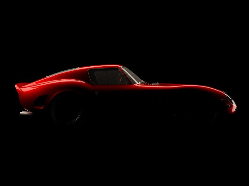 Ferrari 250GTO Studio Dark race photoreal ferrari car automotive cgi render rendering 3d 3ds max