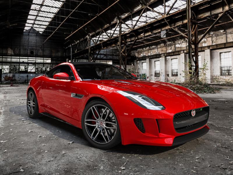 Red Jaguar F-TYPE R Coupé car render vray british 3ds v-ray automotive rendering jaguar sports car photoreal 3d