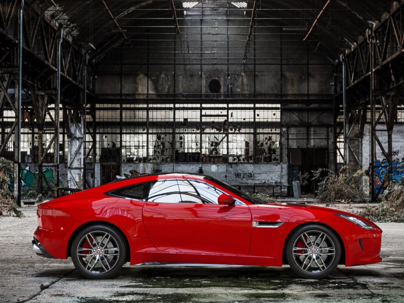 Red Jaguar F-TYPE R Coupé jaguar sports car 3ds max automotive car render rendering 3d vray
