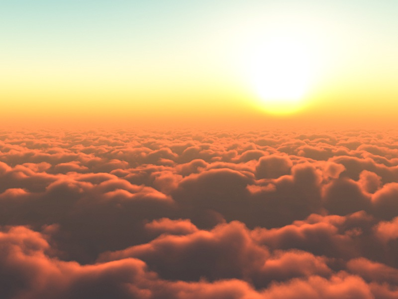 Sunset above the clouds by David Marchal | Dribbble | Dribbble