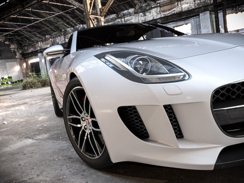 Jaguar F-Type Industrial realistic jaguar car automotive render rendering 3ds max visualization lighting shading