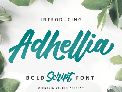 Adhella Bold Scipt Font cute typography script food quotes fashion design product font branding