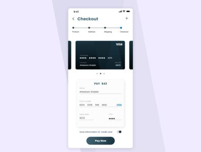 Daily UI 002 Checkout screen dailyui002 credit card visa dark dailychallenge simple design checkout page dailyui