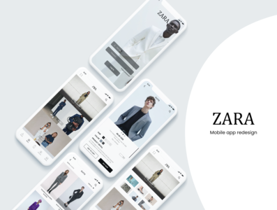 e commerce app UI design / zara app redesign hired graphicdesign app ui uiux elegant vector logo cool design webdesign dailywebdesign dailychallenge clean ui branding app redesign zara app redesign ecommerce e commerce template