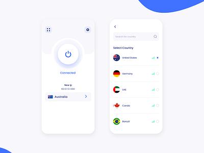Mobile VPN App UI design