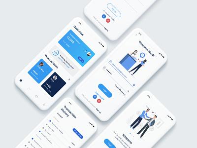 Banking app Design bankingapp cool design webdesign clean ui cooldesign uxdesign branding dailywebdesign dailyui dailychallenge daily 100 challenge