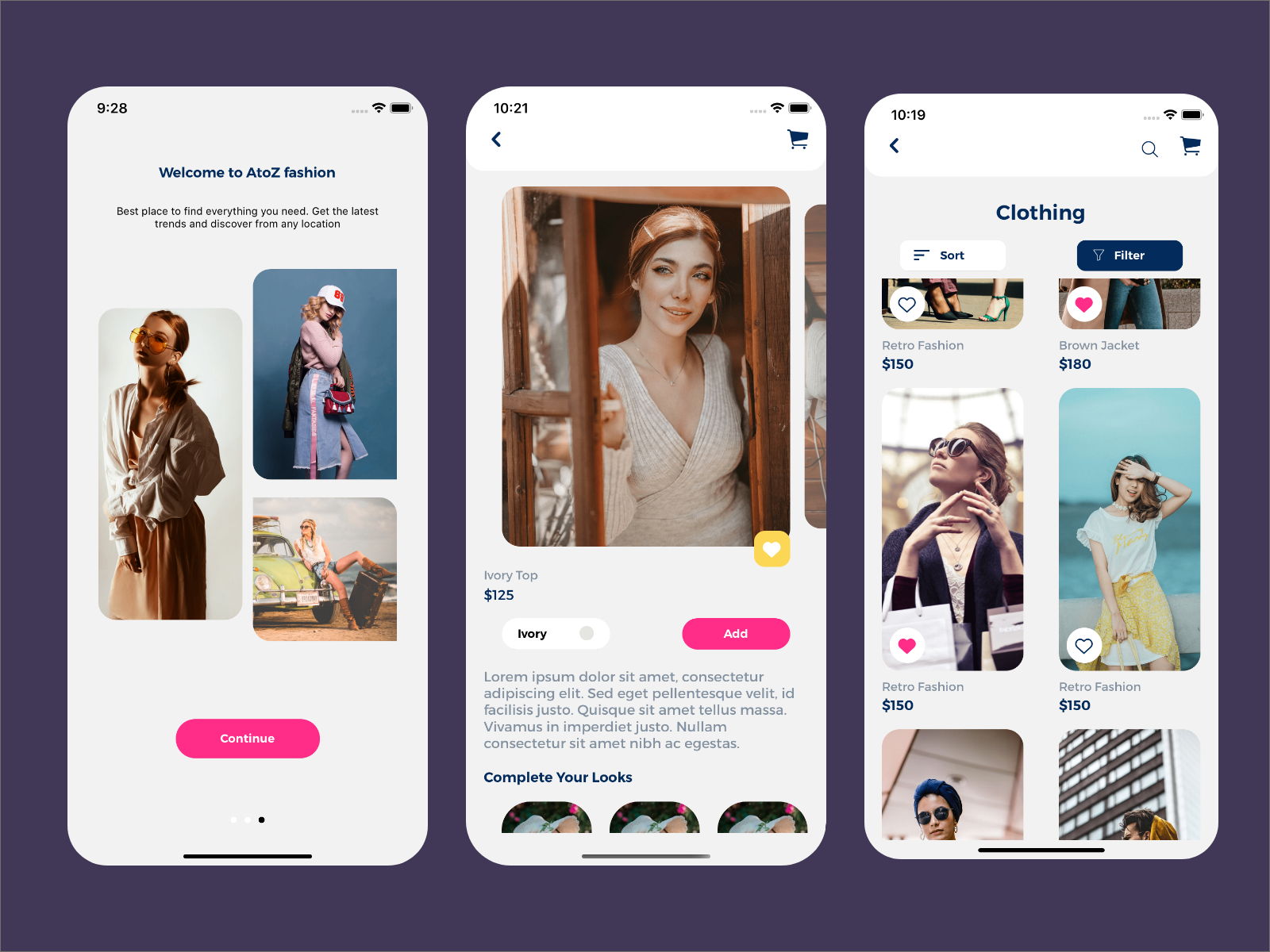 React Native Fashion Ecommerce Template By Atoz Ui On Dribbble