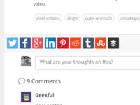 Social Share Buttons - Geekful