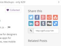 Social Sharing Buttons - Geekful